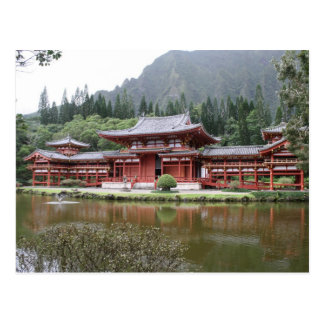 byodo temple hawaii postcard