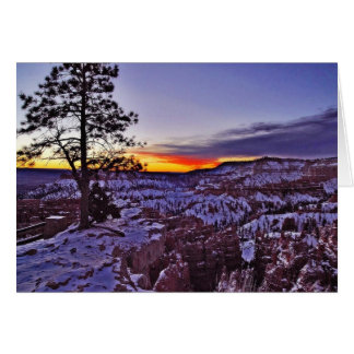 Byrce Canyon Sunrises Morning Winter Card