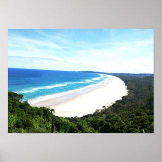 Byron Bay Beach View Poster