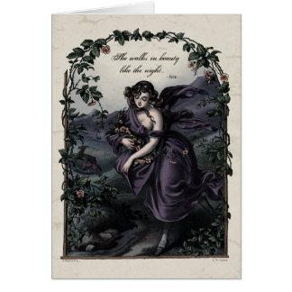 """Byron """"She Walks in Beauty"""" Victorian Art Card"""