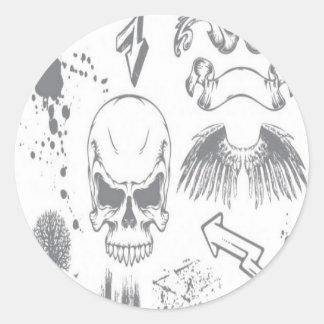 Byskell sample design round sticker