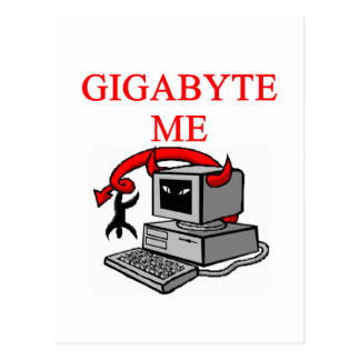 BYTE me insult Postcard