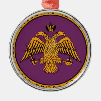 Byzantine Empire Silver-Colored Round Ornament