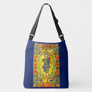Byzantine folk art Jesus Crossbody Bag