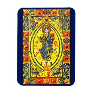 Byzantine folk art Jesus Magnet