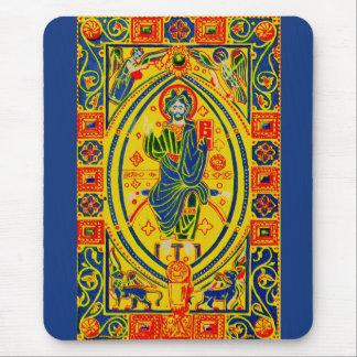 Byzantine folk art Jesus Mouse Pad