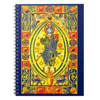 Byzantine folk art Jesus Notebook