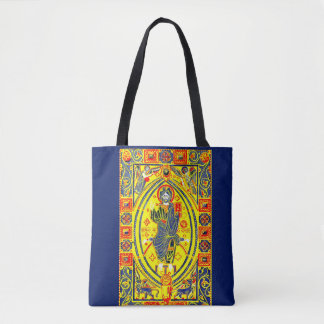 Byzantine folk art Jesus Tote Bag