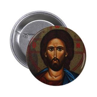 Byzantine Greek Orthodox Icon JESUS CHRIST 2 Inch Round Button