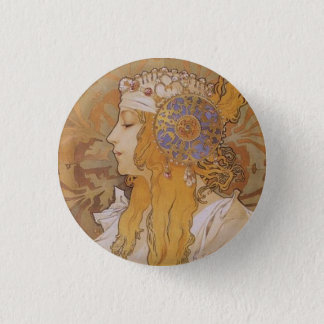Byzantine Head: Blonde 1 Inch Round Button