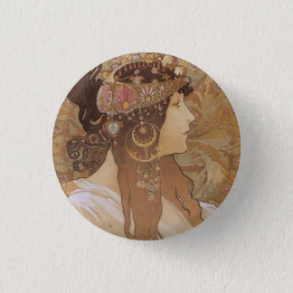 Byzantine Head: Brunette 1 Inch Round Button