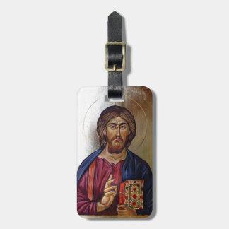 Byzantine Icon of Christ Pantocrator Luggage Tag