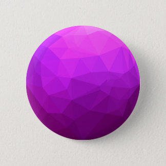 Byzantine Purple Abstract Low Polygon Background 2 Inch Round Button
