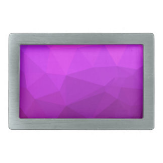 Byzantine Purple Abstract Low Polygon Background Belt Buckle