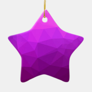 Byzantine Purple Abstract Low Polygon Background Ceramic Ornament