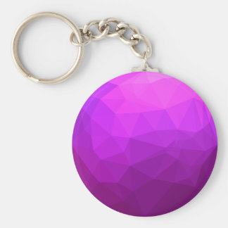 Byzantine Purple Abstract Low Polygon Background Keychain