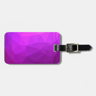Byzantine Purple Abstract Low Polygon Background Luggage Tag