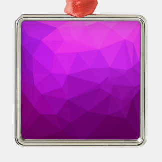 Byzantine Purple Abstract Low Polygon Background Metal Ornament
