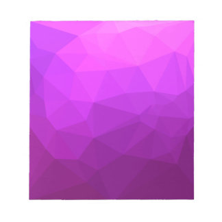 Byzantine Purple Abstract Low Polygon Background Notepad
