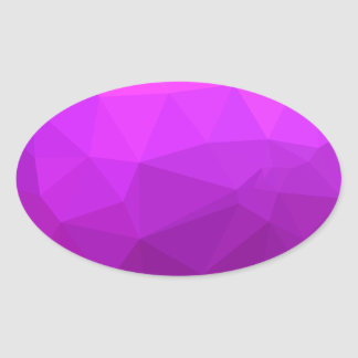 Byzantine Purple Abstract Low Polygon Background Oval Sticker