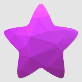 Byzantine Purple Abstract Low Polygon Background Star Sticker