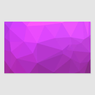Byzantine Purple Abstract Low Polygon Background Sticker