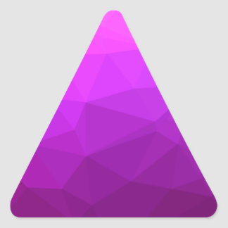 Byzantine Purple Abstract Low Polygon Background Triangle Sticker