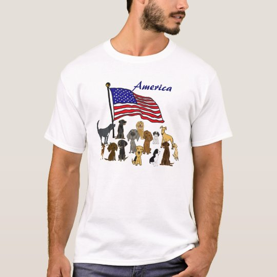 BZ- Flags and Pups American Shirt