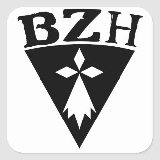 BZH Breizh Brittany Square Sticker