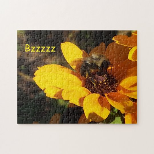 Bzzzy Bee on a Black Eyed Susan Jigsaw Puzzle