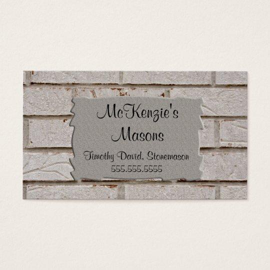 C001 BIZ - Brick Layer / Stonemason Business Card