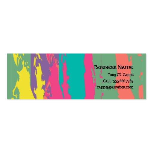 C002 BIZ - Paint Bkmrk - Paint splatters design Pack Of Skinny Business Cards