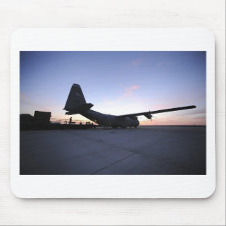 C130 AT DAWN MOUSE PAD