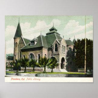 c1910 Public Library, Pasadena, CA Poster