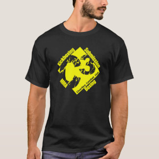 C3 Black and Yellow Logo T T Shirt