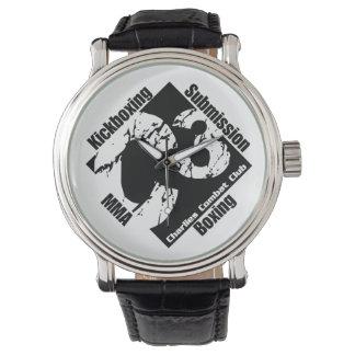 C3 Logo Vintage with Black Leather Strap Wristwatch