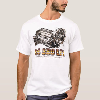 C4 350 LT1 Corvette Engine T-Shirt