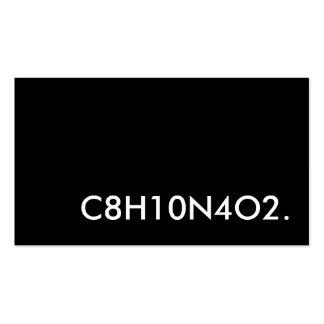 C8H10N4O2. structure de caféine Carte De Visite Standard