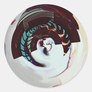 C9N Marblez dk Classic Round Sticker