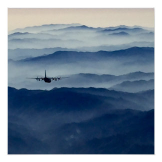 C-130 Above the Haze Poster