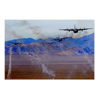 C-130 Flare Diversion. Poster
