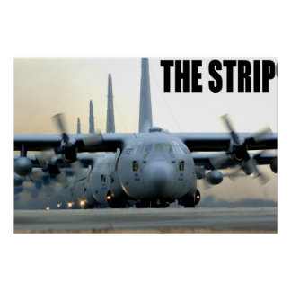 C-130 on the Strip Poster