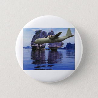 C-130 Somewhere in the South Pacific 2 Inch Round Button