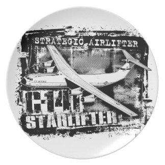 C-141 Starlifter Melamine Plate Melamine Plate