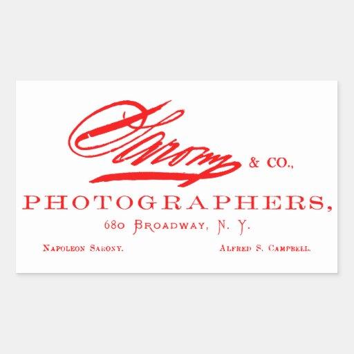 C. 1870 Napoleon Sarony, American Photographer Sticker