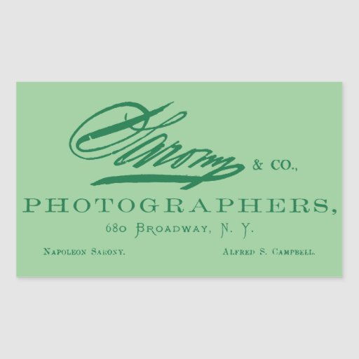 C. 1870 Napoleon Sarony, American Photographer Rectangle Stickers