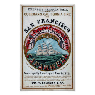 C.A.FARWELL Clipper Ship Historical Repro Poster