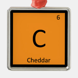 C - Cheddar Cheese Chemistry Periodic Table Symbol Metal Ornament