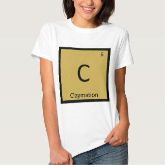 C - Claymation Animation Chemistry Periodic Table Shirt