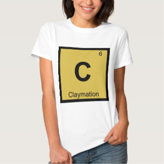 C - Claymation Animation Chemistry Periodic Table Tees